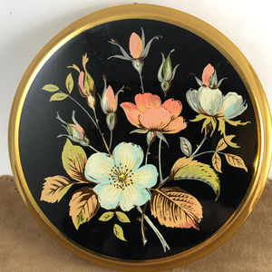 Vintage Made in England Floral Compact by Mascot